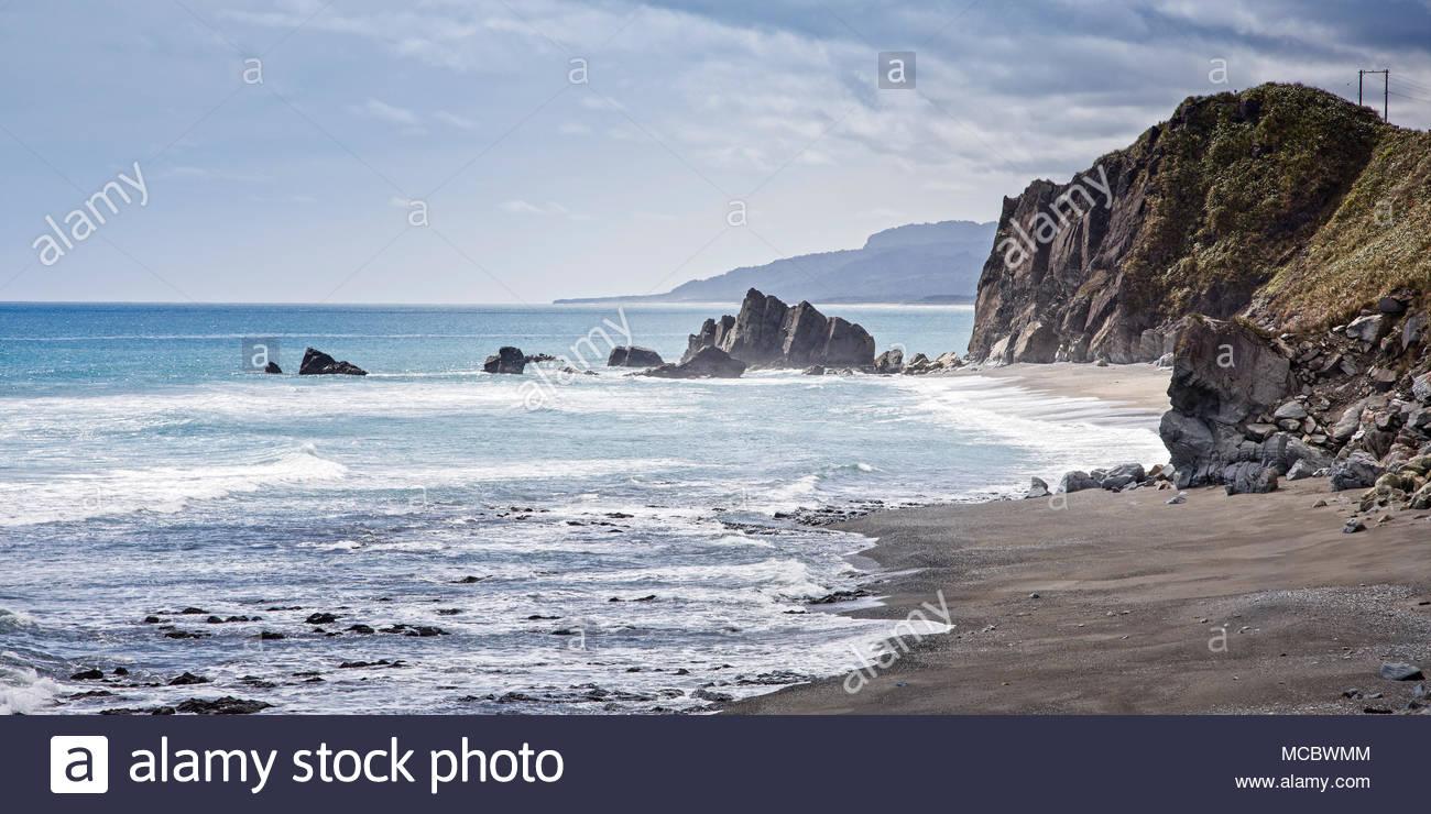 The rugged West Coast Region of the South Island, New Zealand. - Stock Image