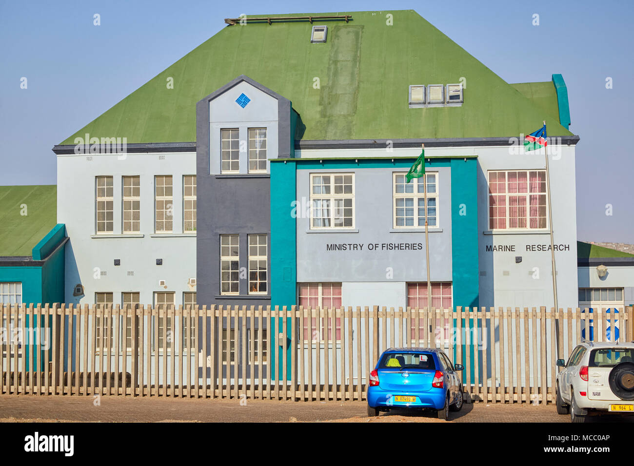 Ministry of Fisheries building in Luderitz, Namibia, Africa - Stock Image