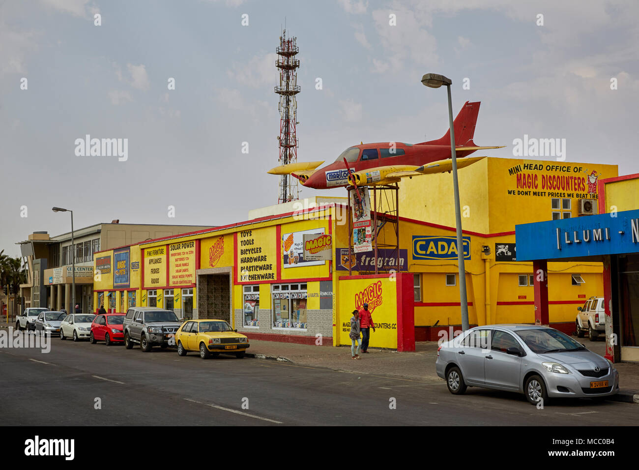 Sam Nujoma Avenue in Walvis Bay, Namibia, Africa - Stock Image