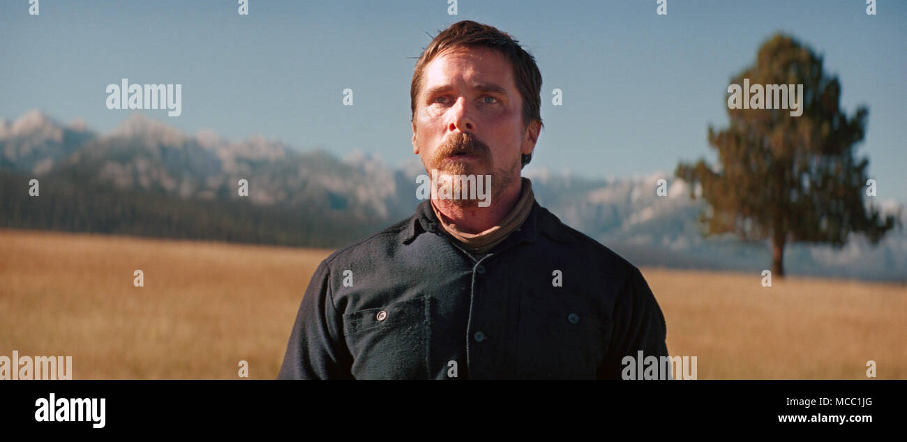 Hostiles is a 2017 period drama film directed by Scott Cooper. It stars Christian Bale, Rosamund Pike, Wes Studi, Adam Beach, Ben Foster, Jesse Plemons, Rory Cochrane, and Q'orianka Kilcher.  This photograph is for editorial use only and is the copyright of the film company and/or the photographer assigned by the film or production company and can only be reproduced by publications in conjunction with the promotion of the above Film. A Mandatory Credit to the film company is required. The Photographer should also be credited when known. - Stock Image