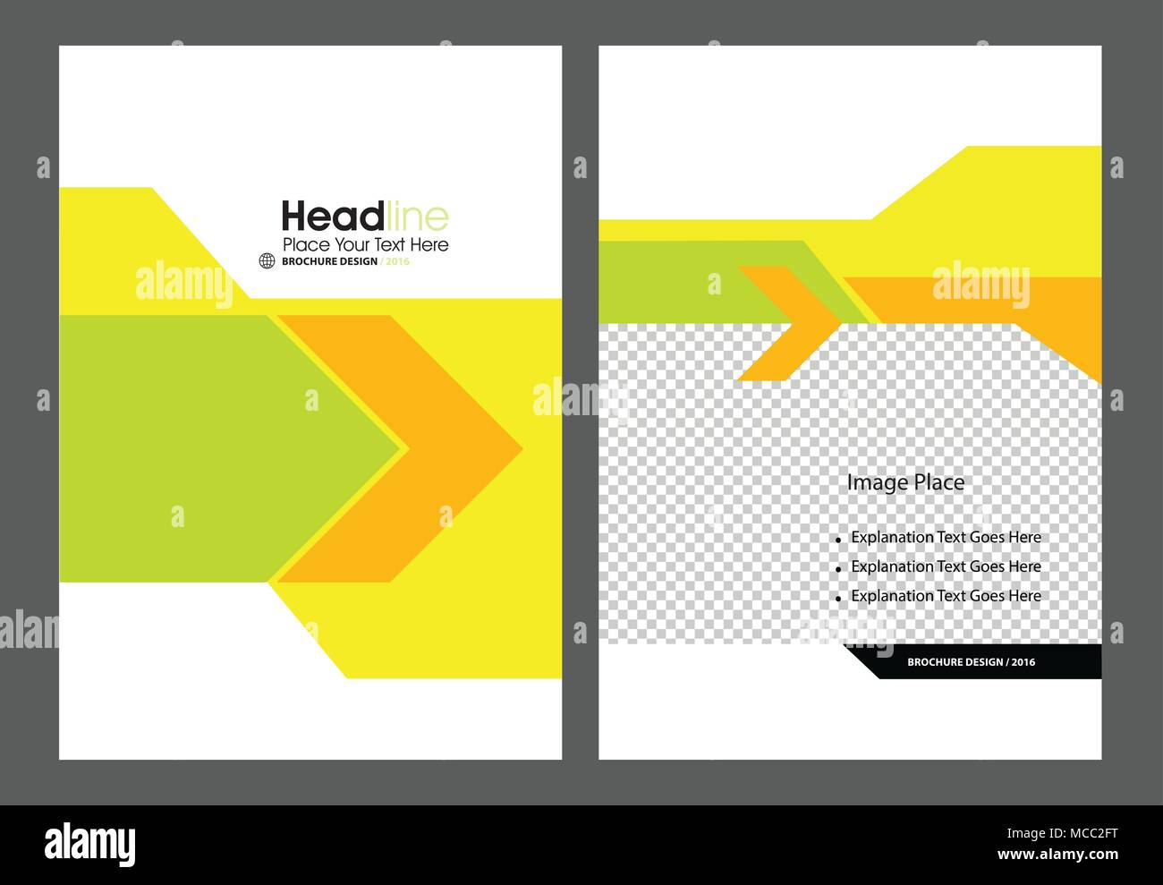 Professional Brochure Concept Template for Business Purpose, Place Your Text and Logos  and Ready To GO For Print. - Stock Image