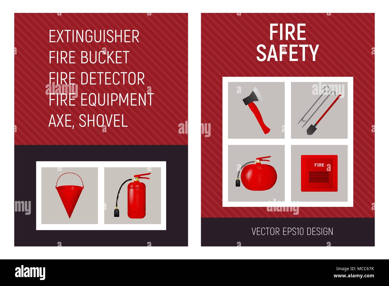 fire safety brochure concept template stock vector art