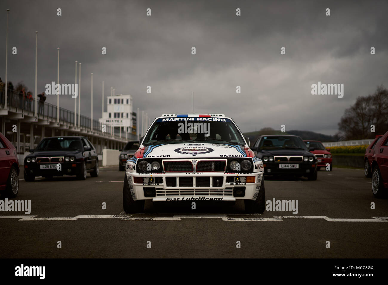 Lancia Martini Delta Integrale HF, Goodwood Motor Circuit, UK - Stock Image