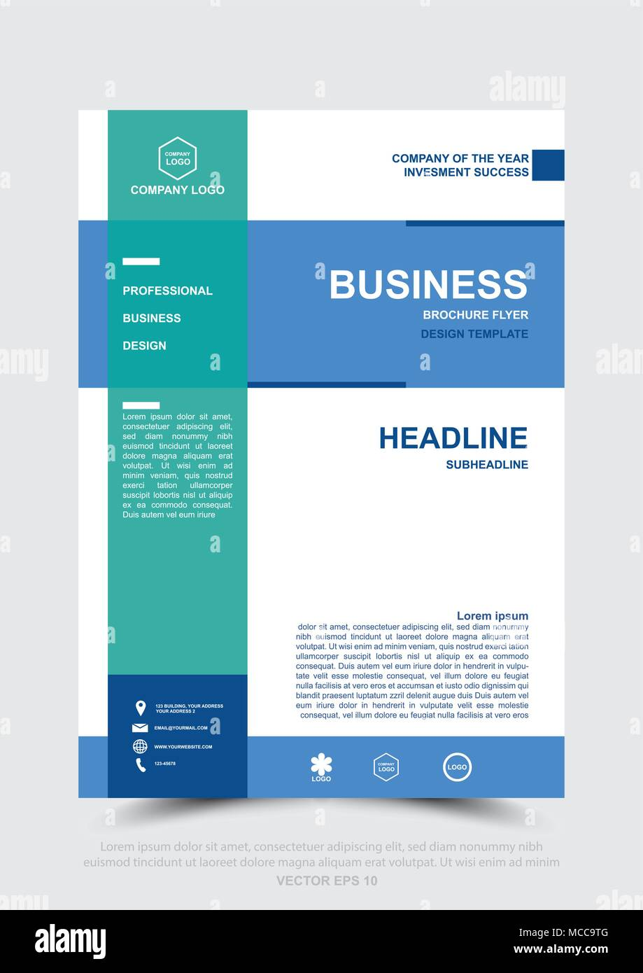 Design of Business Brochure, Leaflet, Flyer, Poster, Banner template, Book cover. Design for Business, Annual report, Web template and presentation. V - Stock Image