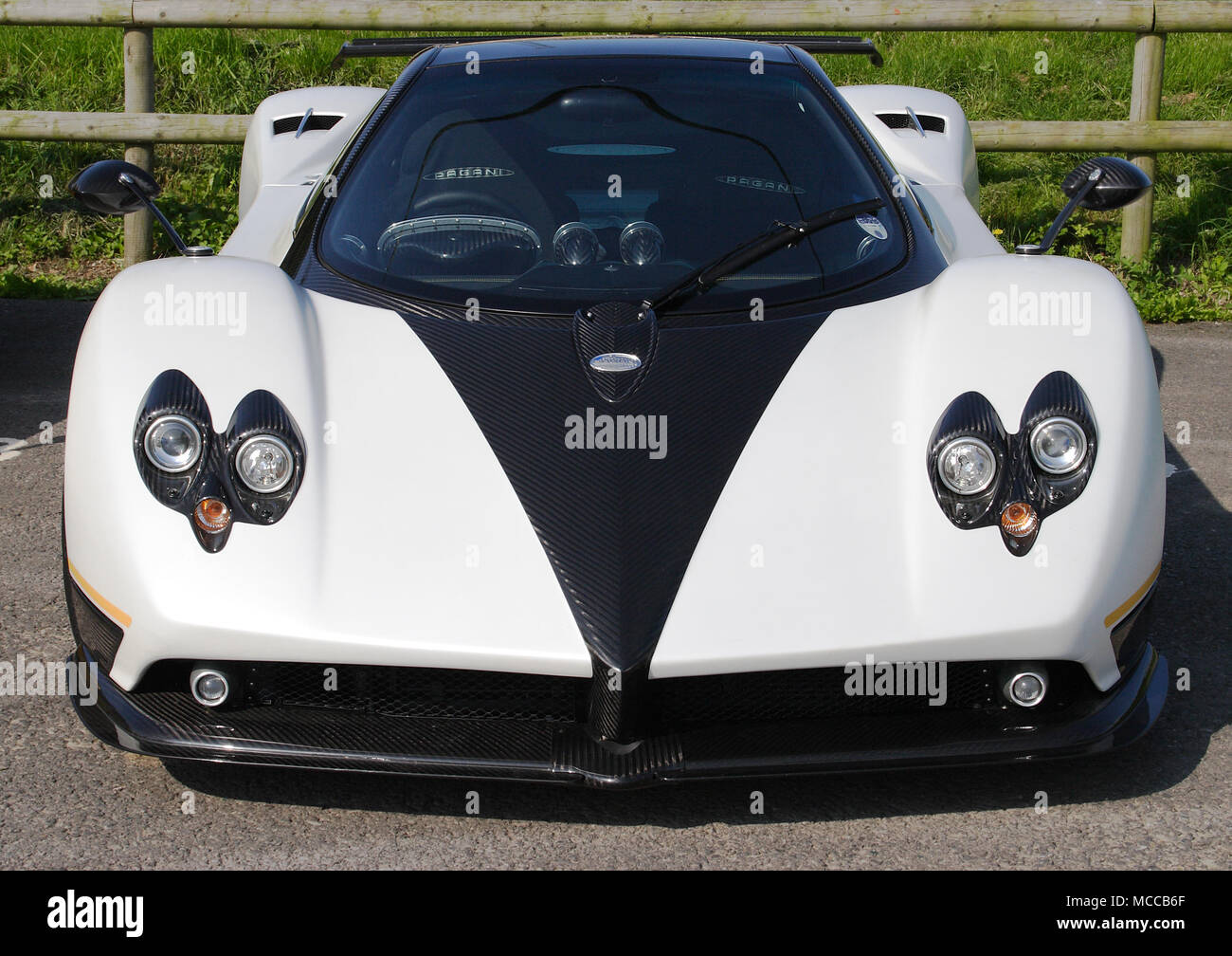 Front view of a Pagani Zonda hyper car hypercar Stock Photo ...