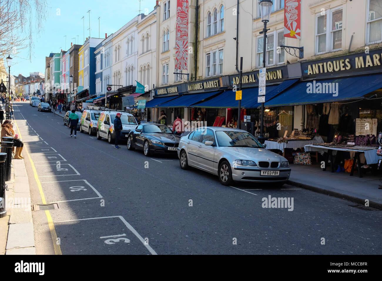 Portobello Road, Notting Hill, London, England, UK. - Stock Image