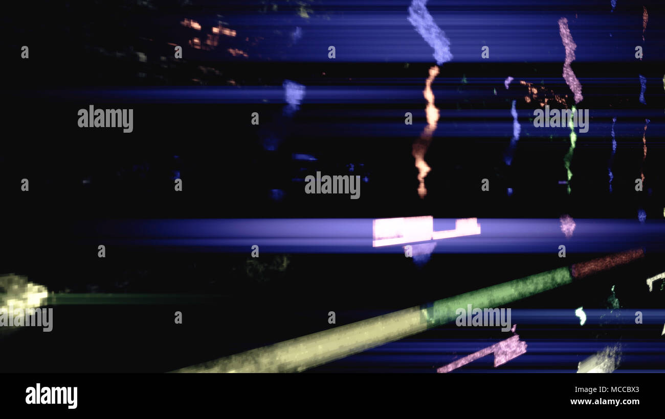 Data glitch random digital signal malfunction. High resolution illustration 11106 from a series of abstract futuristic technology. - Stock Image