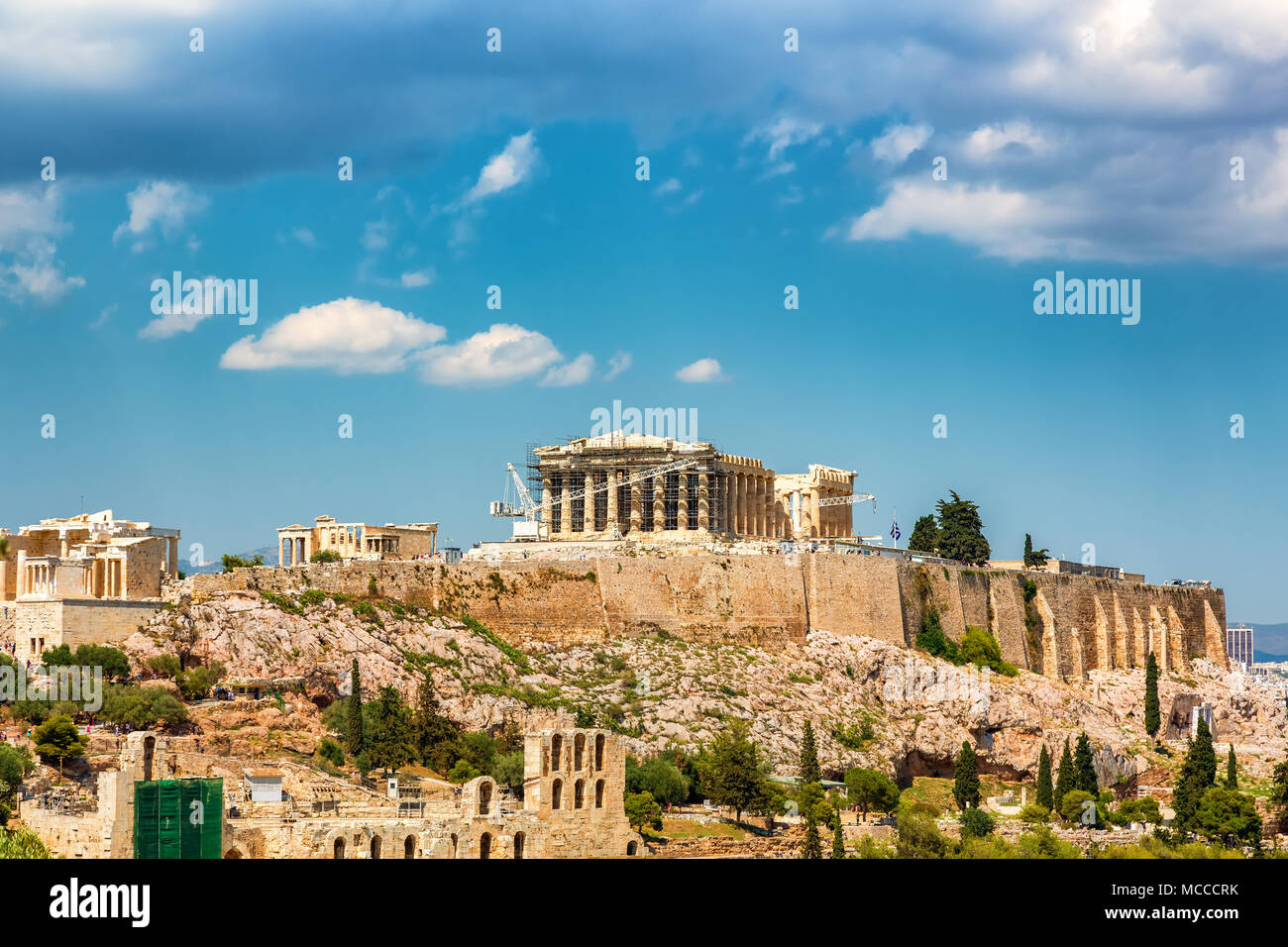 Acropolis of Athens, Greece - Stock Image