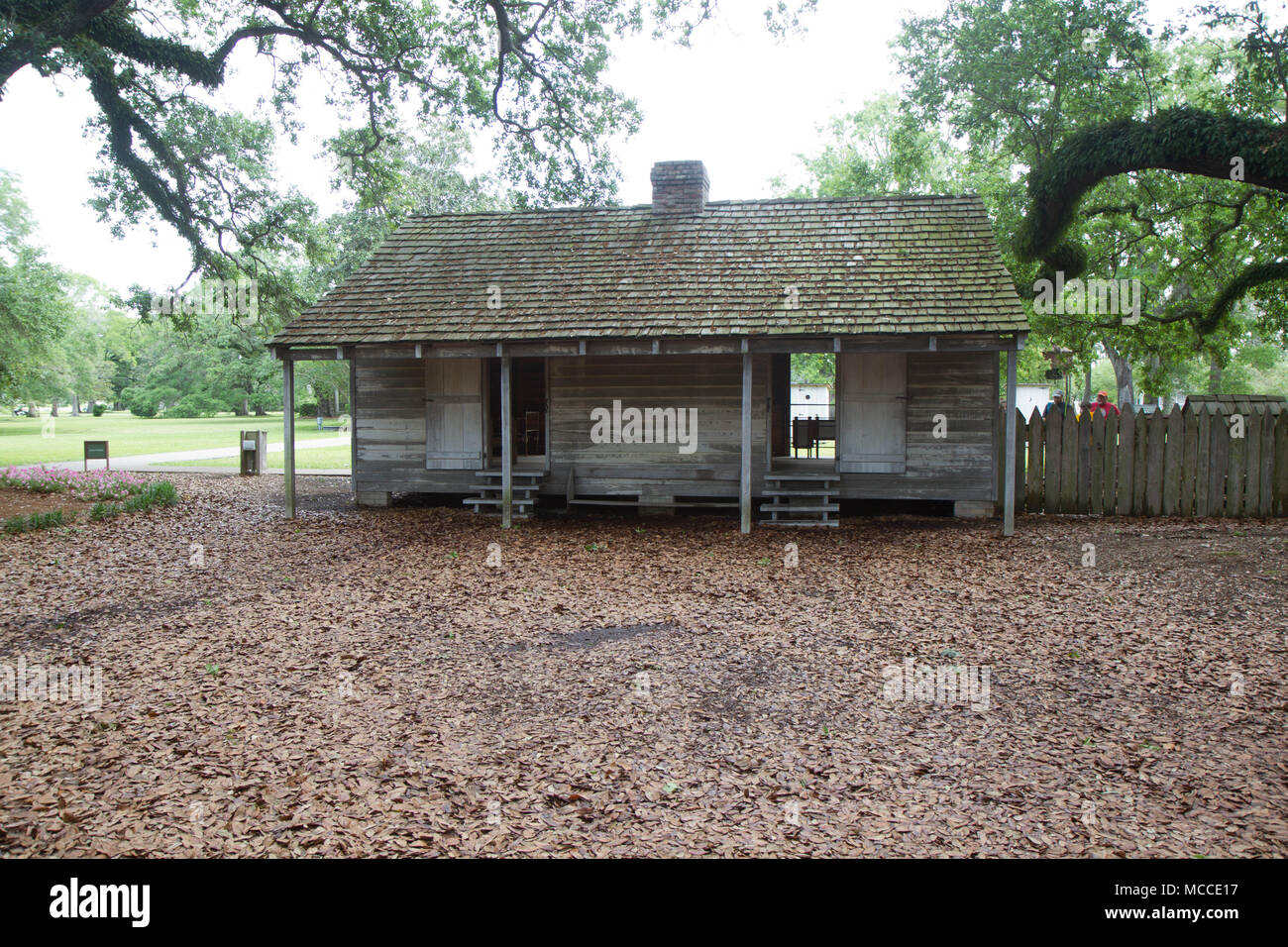 Slave quarters of Oak Alley plantation antebellum mansion ...