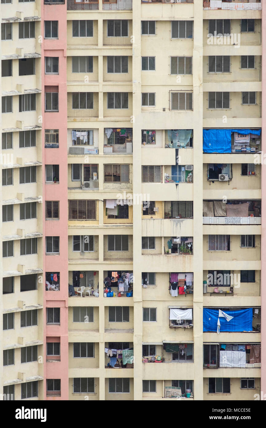 An apartment block in south Mumbai, Maharashtra, India - Stock Image