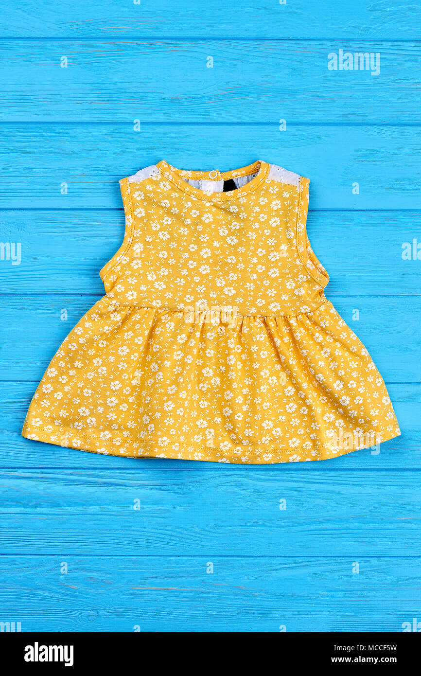 13d3605bcab2 Beautiful colored sundress for baby-girl. Little yellow dress with ...