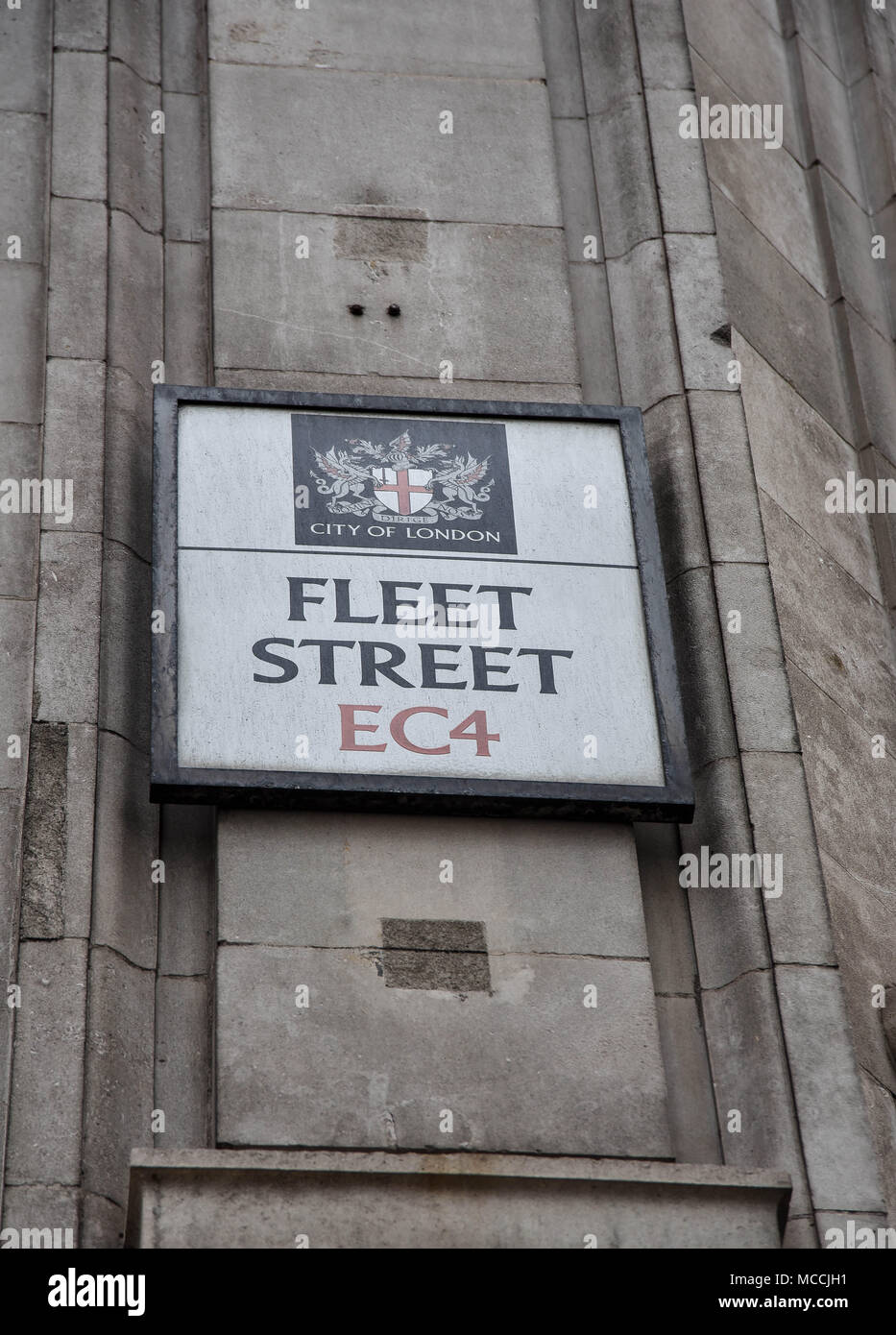 fleet street road sign - Stock Image