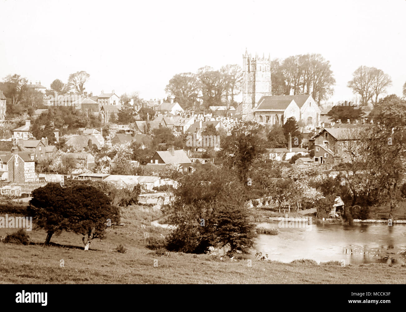 Carisbrooke Village, isle of Wight, early 1900s - Stock Image