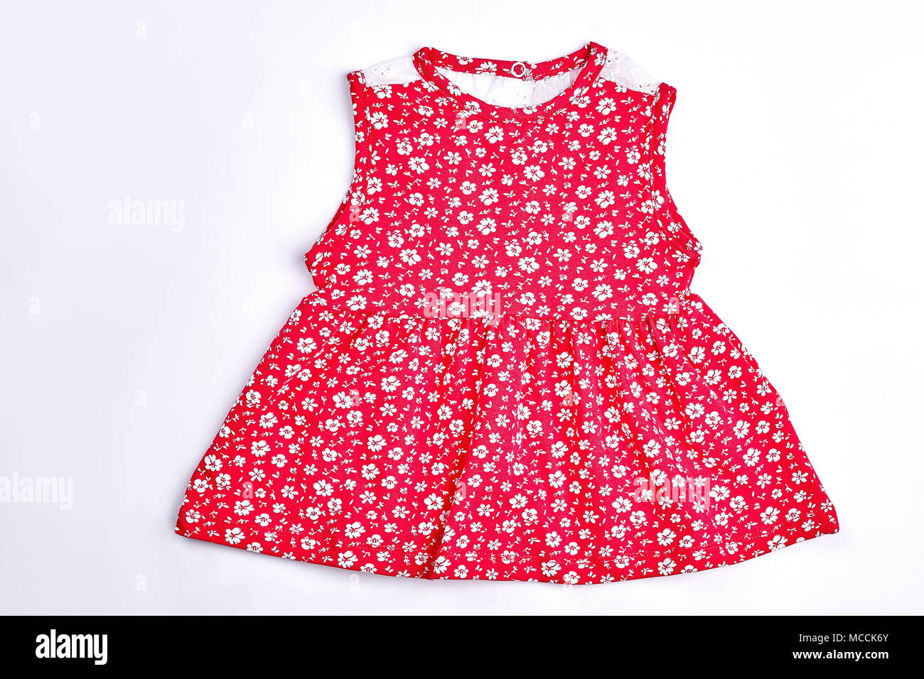 Baby Girl Red Flower Print Dress Toddler Girls Red Top With A