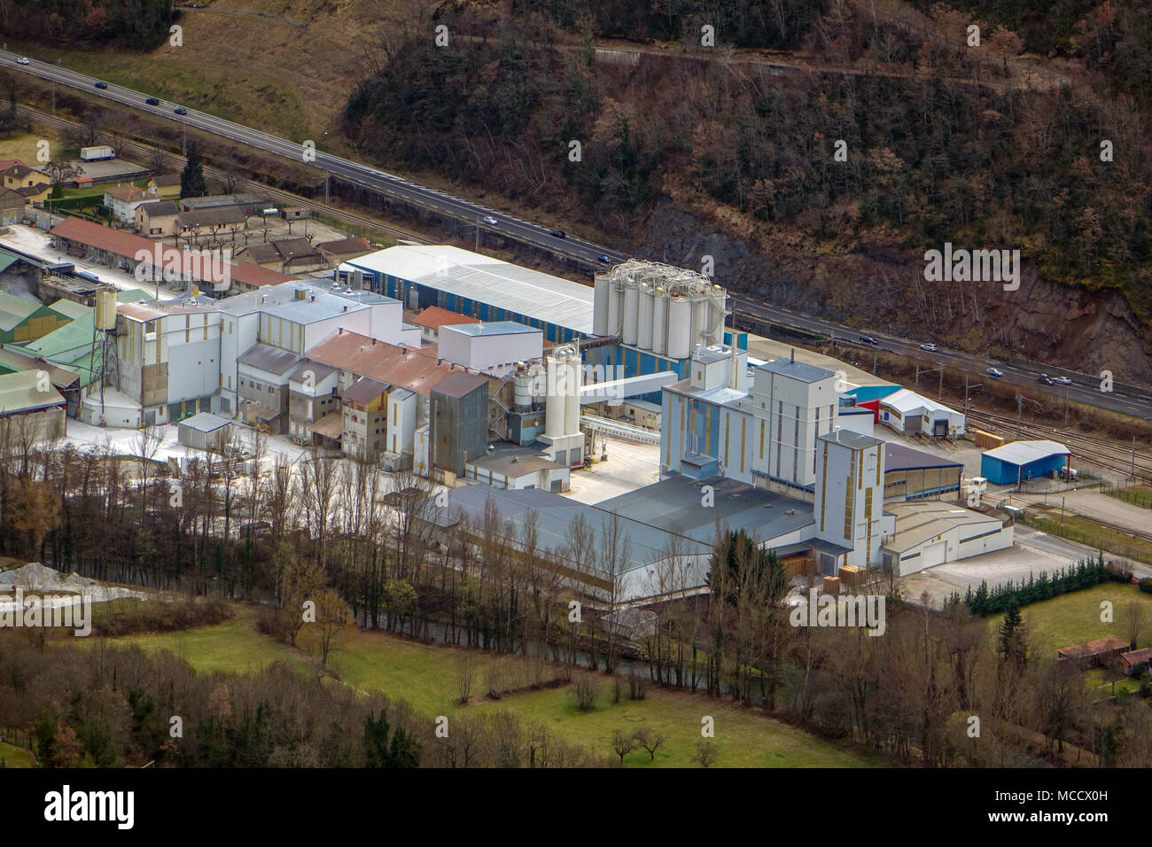 Imerys talc factory, Luzenac, Ariege, France, French Pyrenees - Stock Image