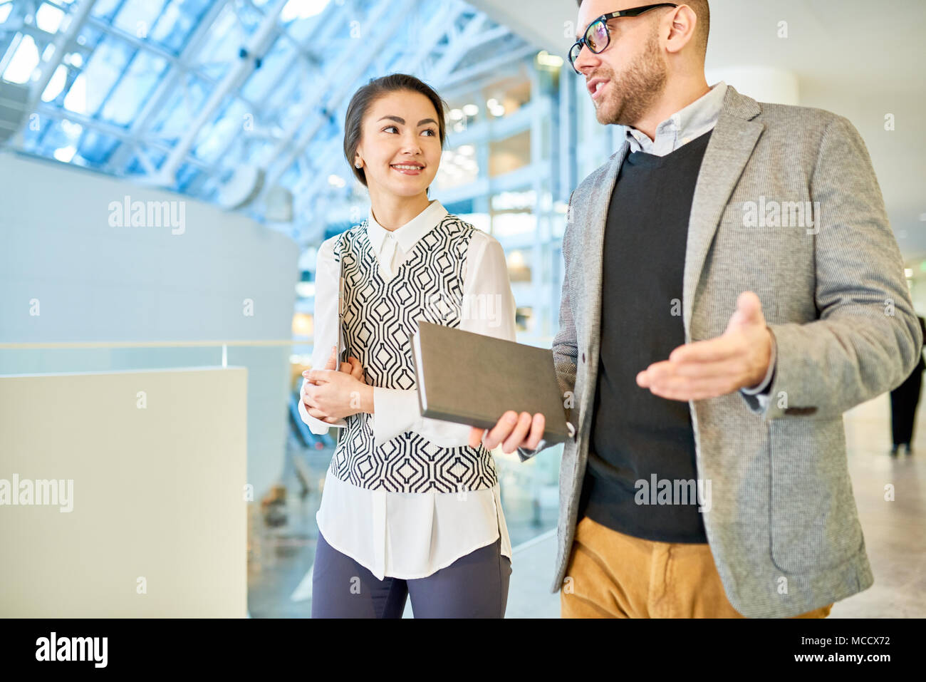 Explaining Something to Subordinate Stock Photo