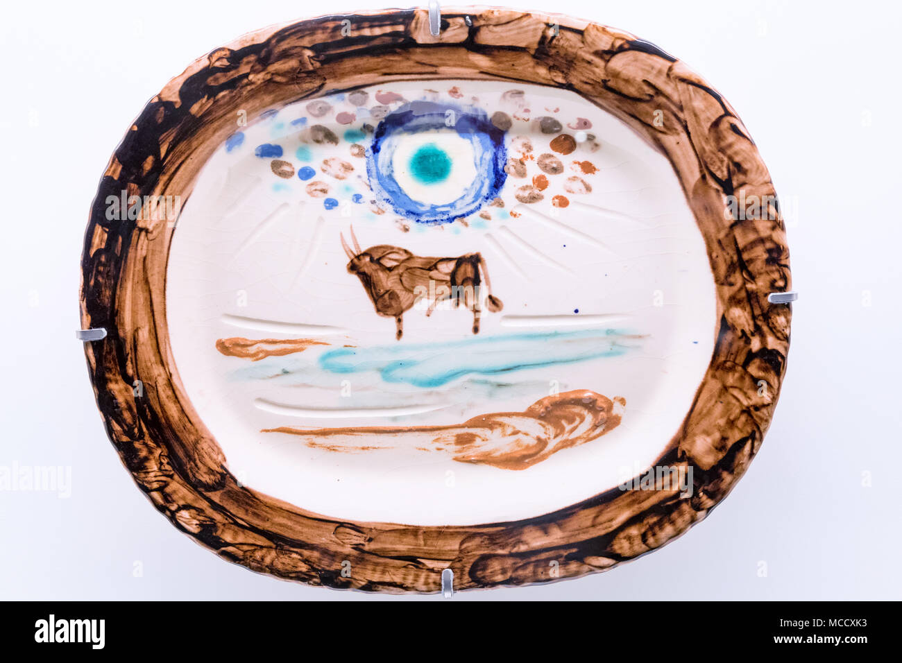 Ceramic made by Pablo Picasso, Louisiana Museum of Modern Art, Copenhagen Area, Denmark - Stock Image