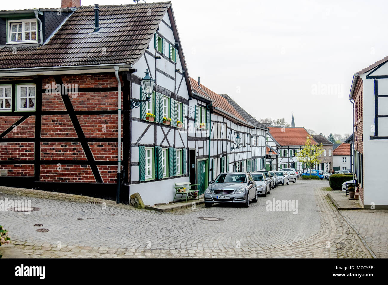 LIEDBERG / GERMANY - APRIL 14 2018: The historic old town Liedberg in NRW, Germany. - Stock Image