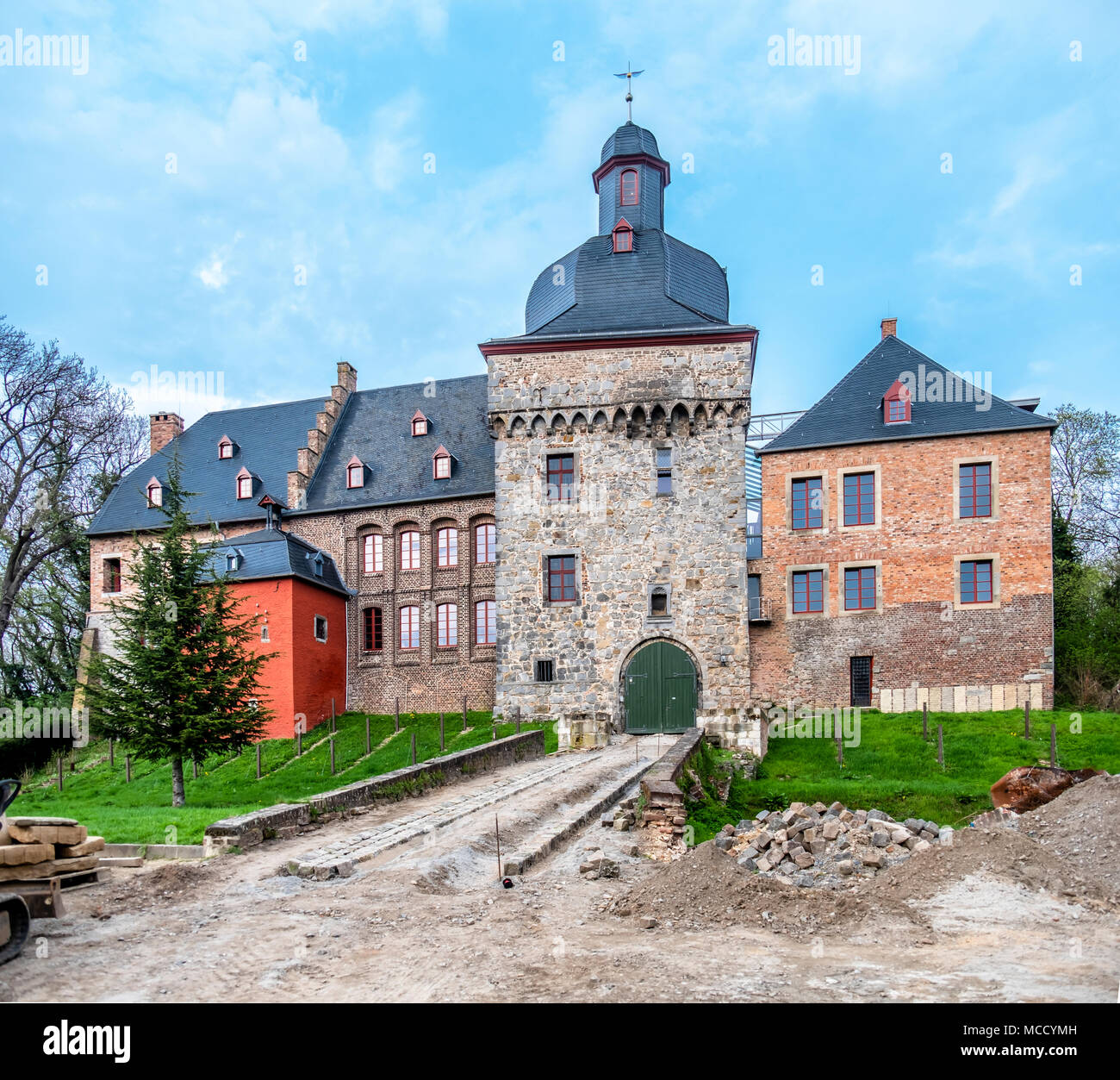 The historic old town Liedberg in NRW, Germany. - Stock Image