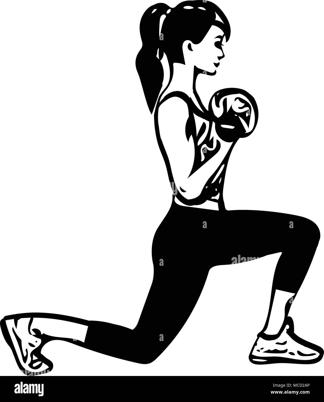 Women Exercising Gym Fitness Silhouette Health Girl Slim Black And White Stock Photos Images Alamy Ny #fitness #jobs female membership sales rep (bayridge): https www alamy com fit young woman in sportswear vector illustration image179766798 html