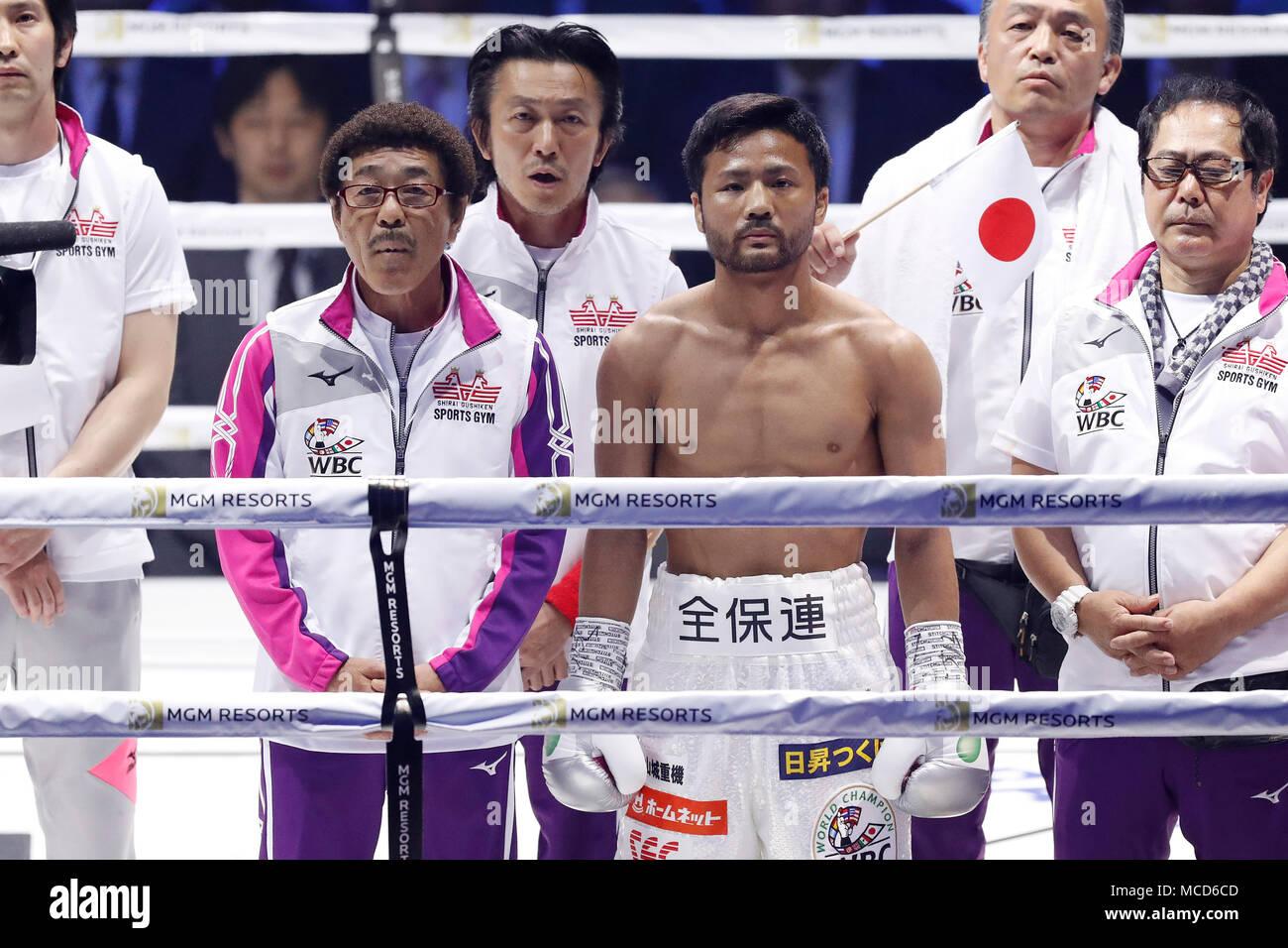 L-R) Yoko Gushiken, Daigo Higa (JPN), APRIL15, 2018 - Boxing : WBC