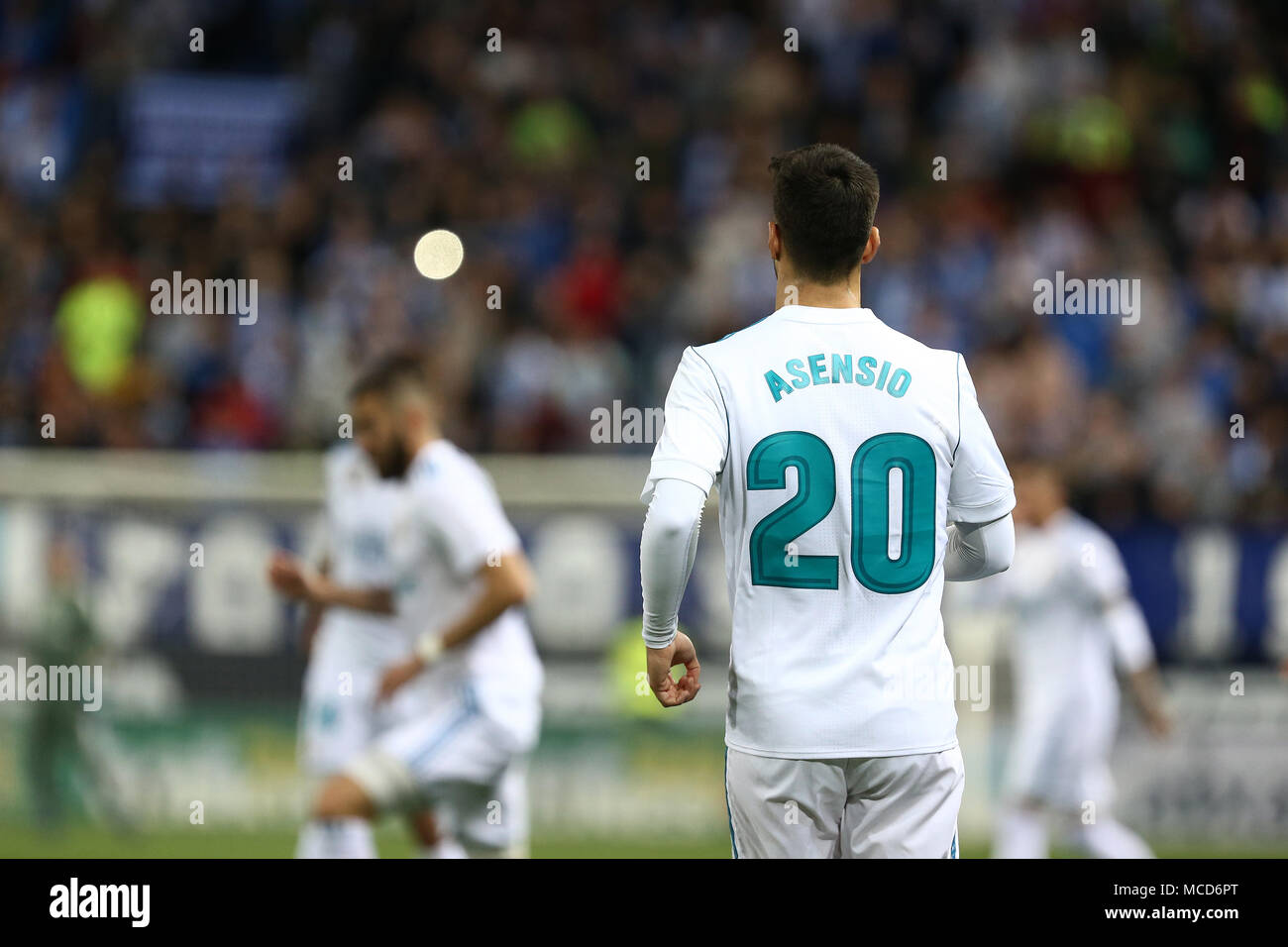 marco asensio real madrid in action during the la liga match between malaga cf