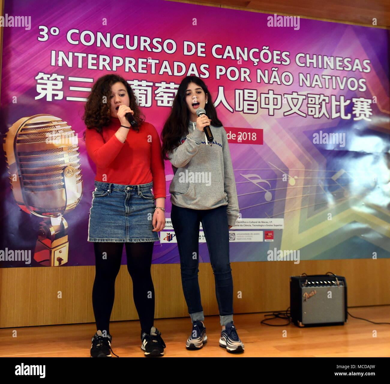 Lisbon, Portugal  15th Apr, 2018  The Portuguese contestants