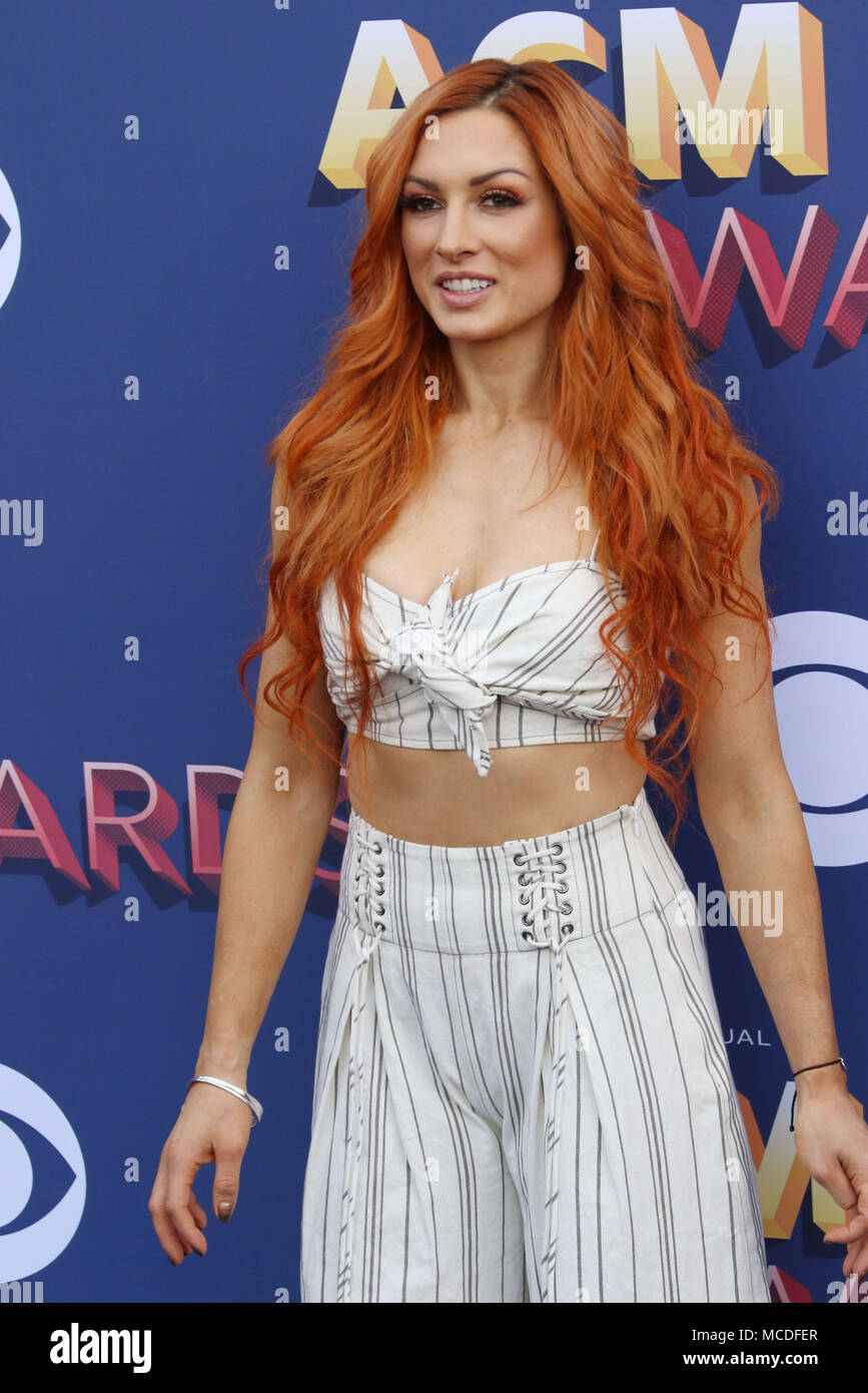 Las Vegas, Nevada, USA. 16th Apr, 2018. Becky Lynch attends the 53rd Academy of Country Music Awards on April 15, 2018 at the MGM Grand Arena in Las Vegas, Nevada. Credit: Marcel Thomas/ZUMA Wire/Alamy Live News Stock Photo