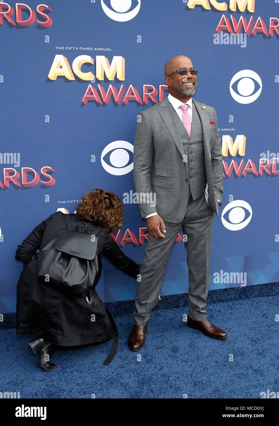 Publicist, Darius Rucker at arrivals for 53rd Academy of Country Music (ACM) Awards - Arrivals 3, MGM Grand Garden Arena, Las Vegas, NV April 15, 2018. Photo By: JA/Everett Collection - Stock Image