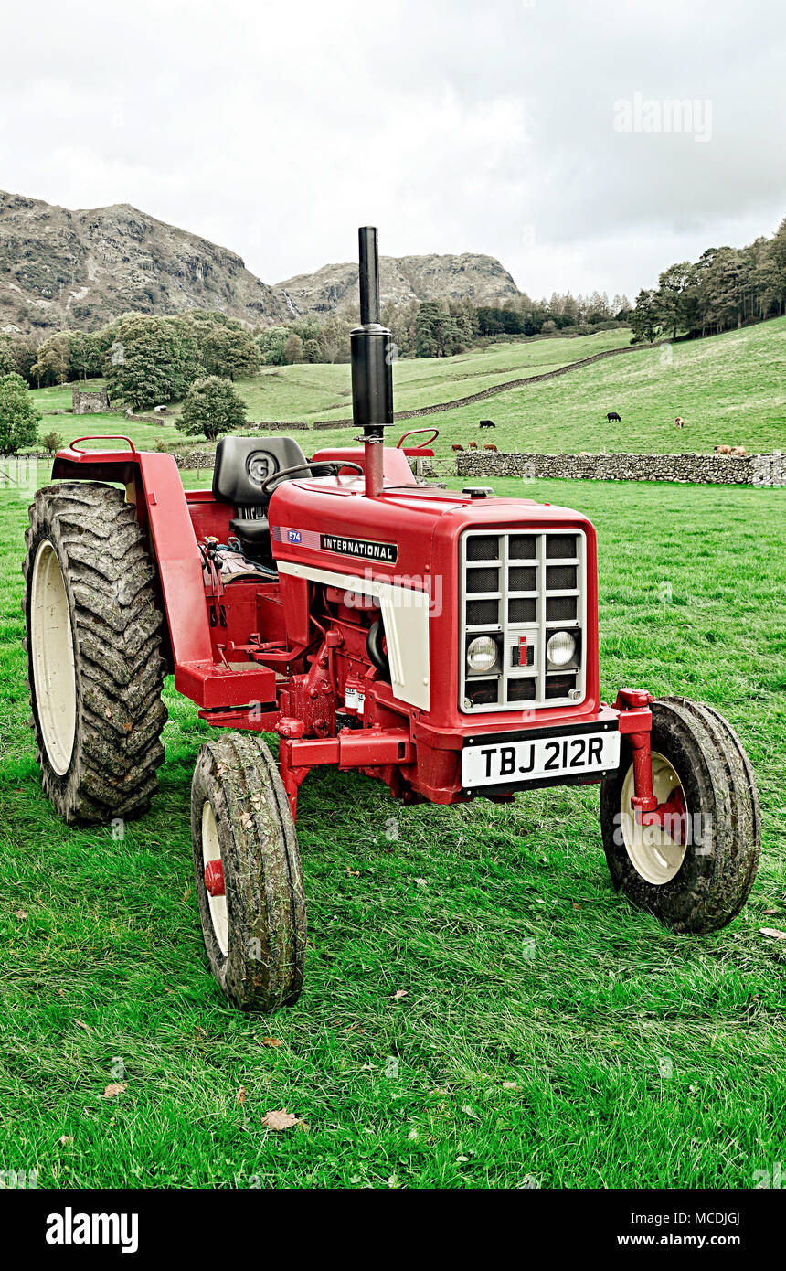 International 574 Tractor Stock Photo 179779506