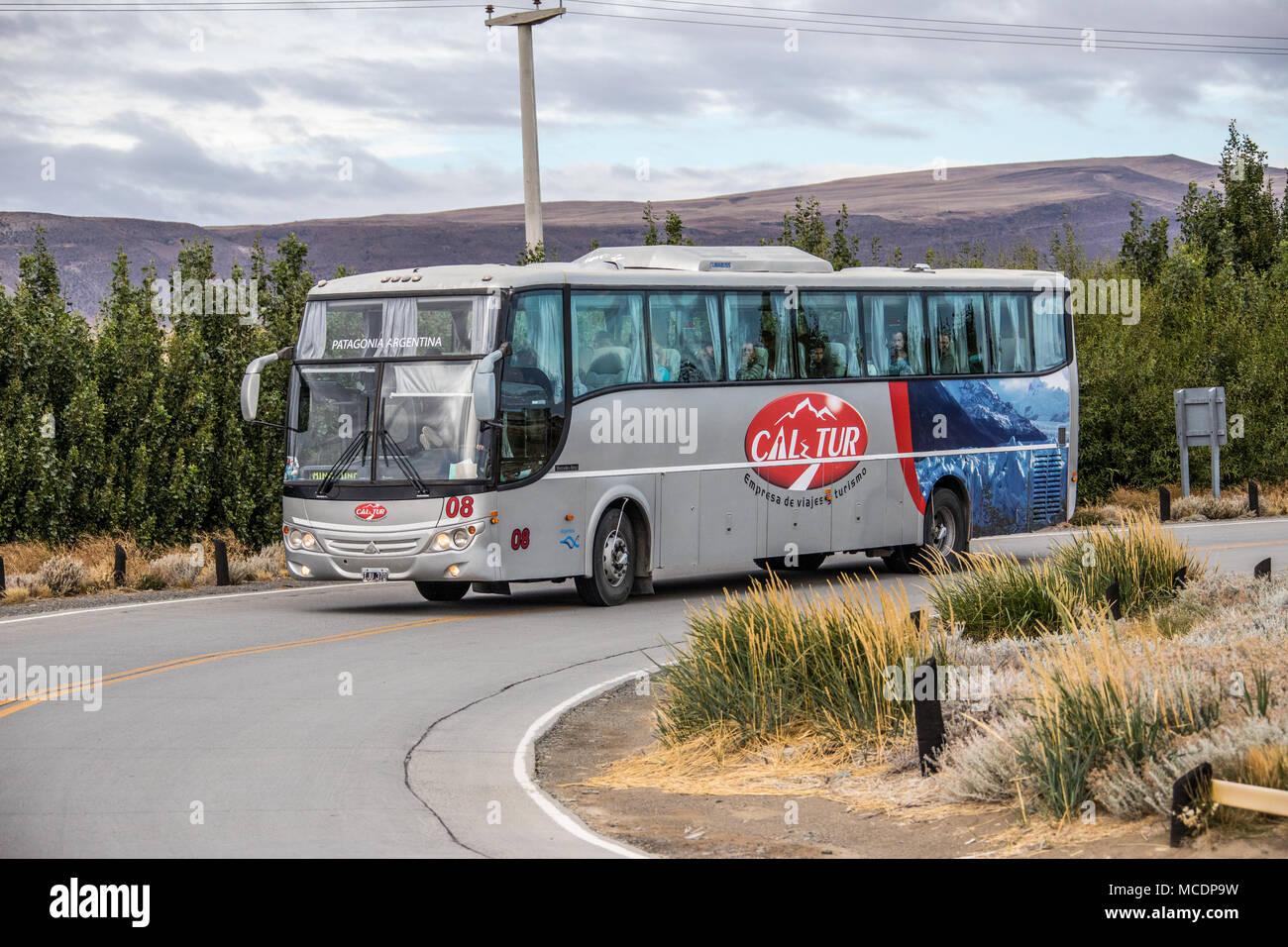 Cal Tur tourist bus, El Calafate, Argentina - Stock Image