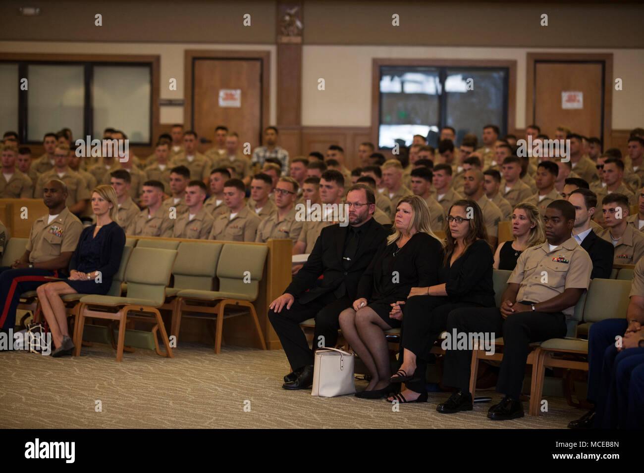The family of fallen U S  Marine Lance Cpl  Austin Cahill, a