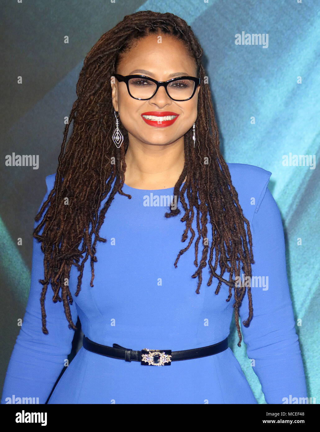 Mar 13, 2018  - Ava DuVernay attending European Premiere of A Wrinkle in Time, BFI IMAX in London, England, UK - Stock Image