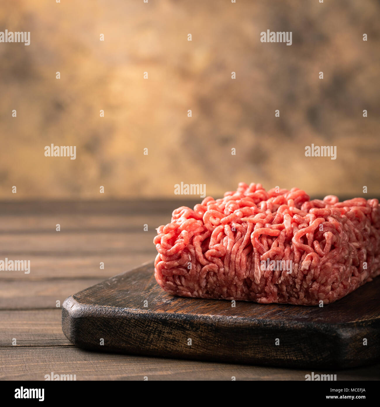 Fresh raw beef minced meat Stock Photo