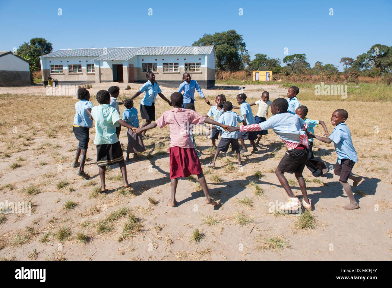 Africa, Zambia school children playing. - Stock Image