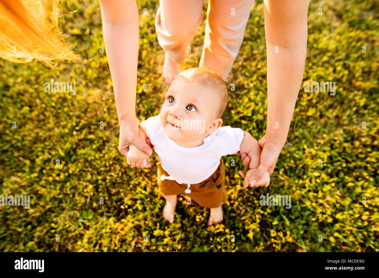 Young mother with her baby son. - Stock Image