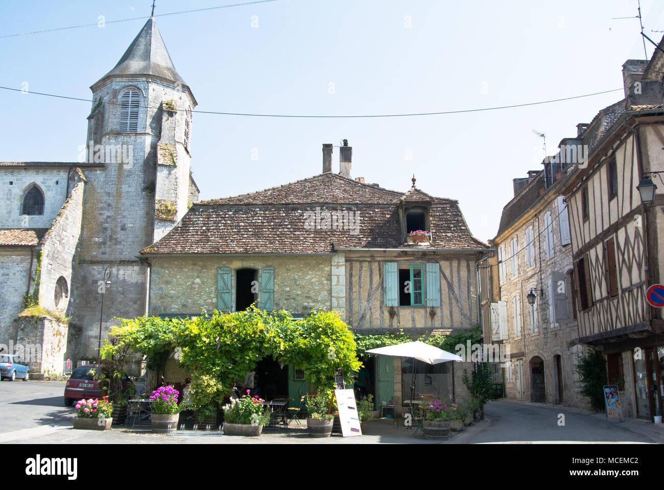 The picturesque town of Issigeac, France - Stock Image