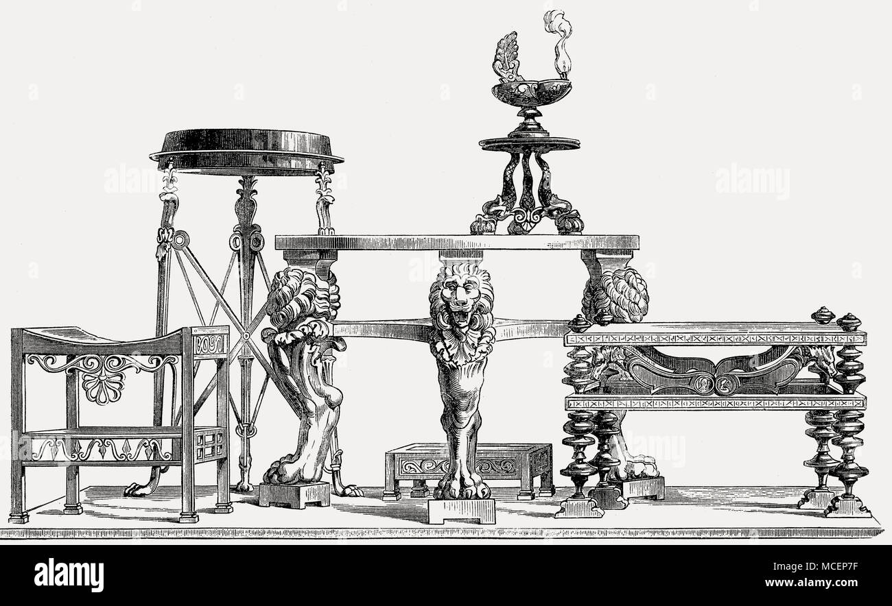 Furniture of ancient Rome - Stock Image