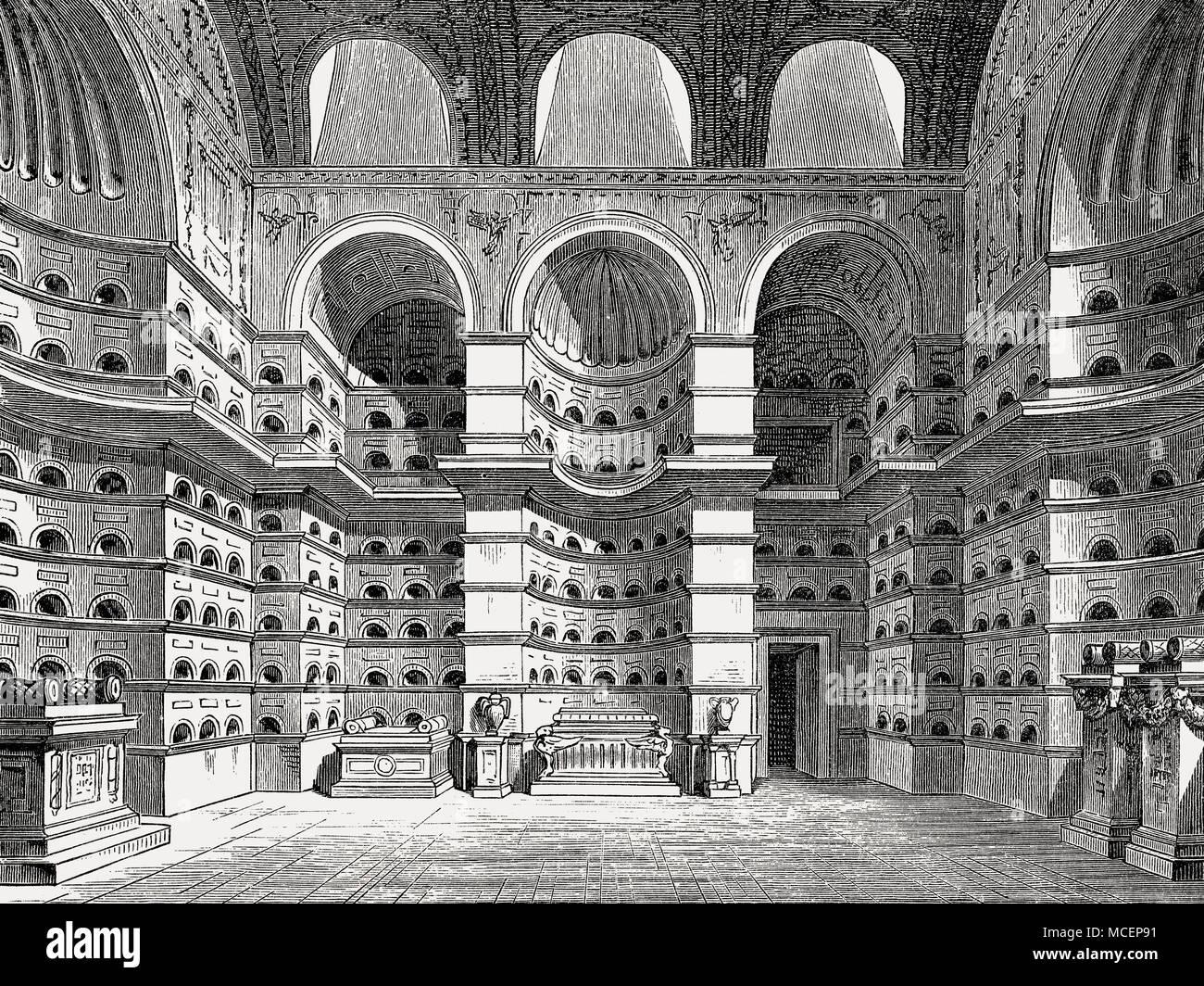 An ancient Roman columbarium, Appian way, Rome, Italy Stock Photo