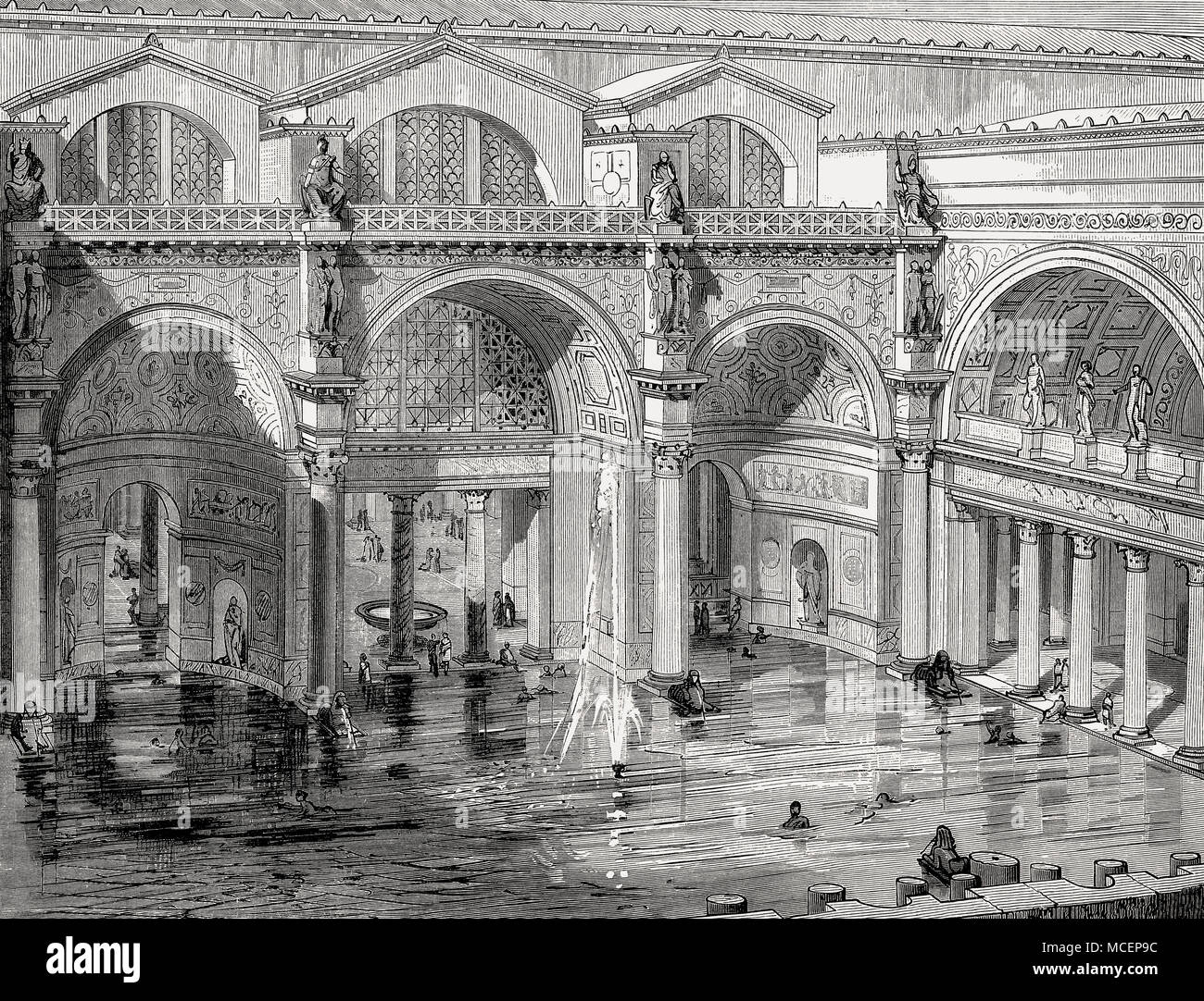 The Baths of Caracalla in ancient Rome, Italy ... Baths Of Caracalla Reconstruction