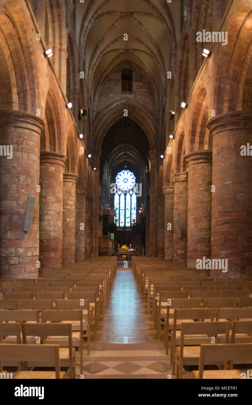St Magnus Cathedral, Kirkwall, Orkney - Interior - Stock Image