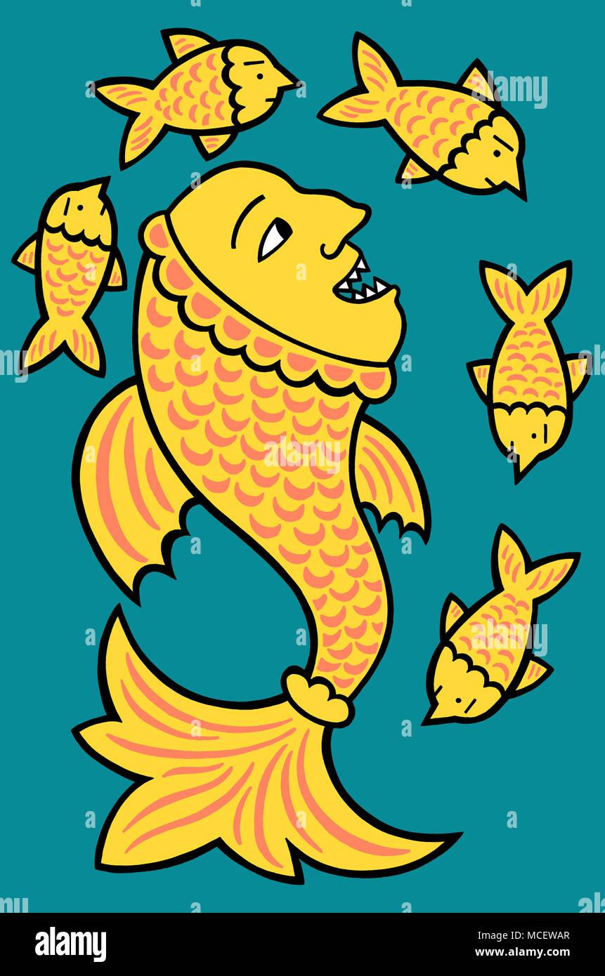 It's a fish eat fish worldStock Photo