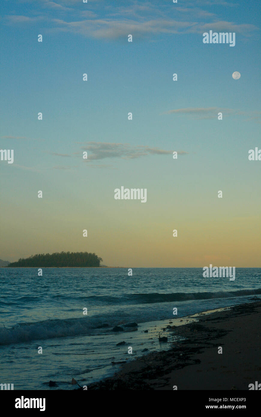 Inhabited island. Gorontalo. Sulawesi. Indonesia - Stock Image