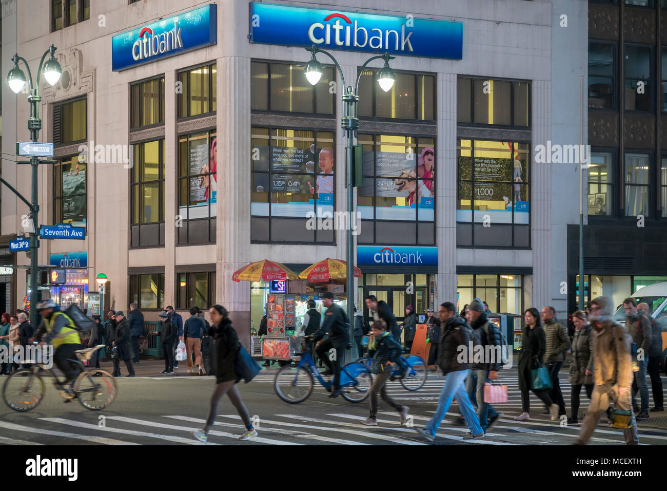 A Citibank Stock Photos Images Alamy Wiring Instructions For Branch In The Herald Square Area New York On Tuesday April 10
