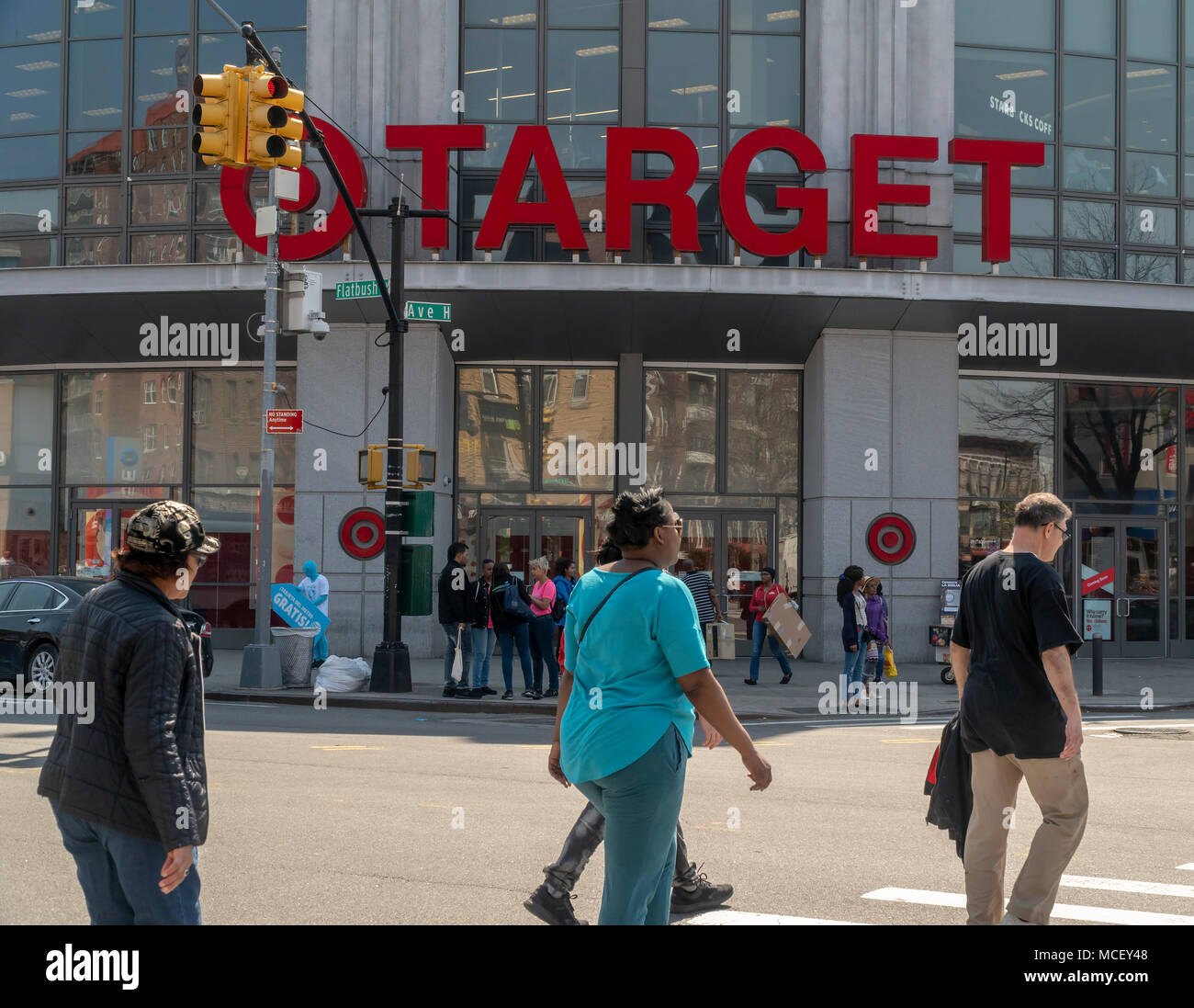 Shoppers Outside A Target Store On Flatbush Avenue In The Flatbush