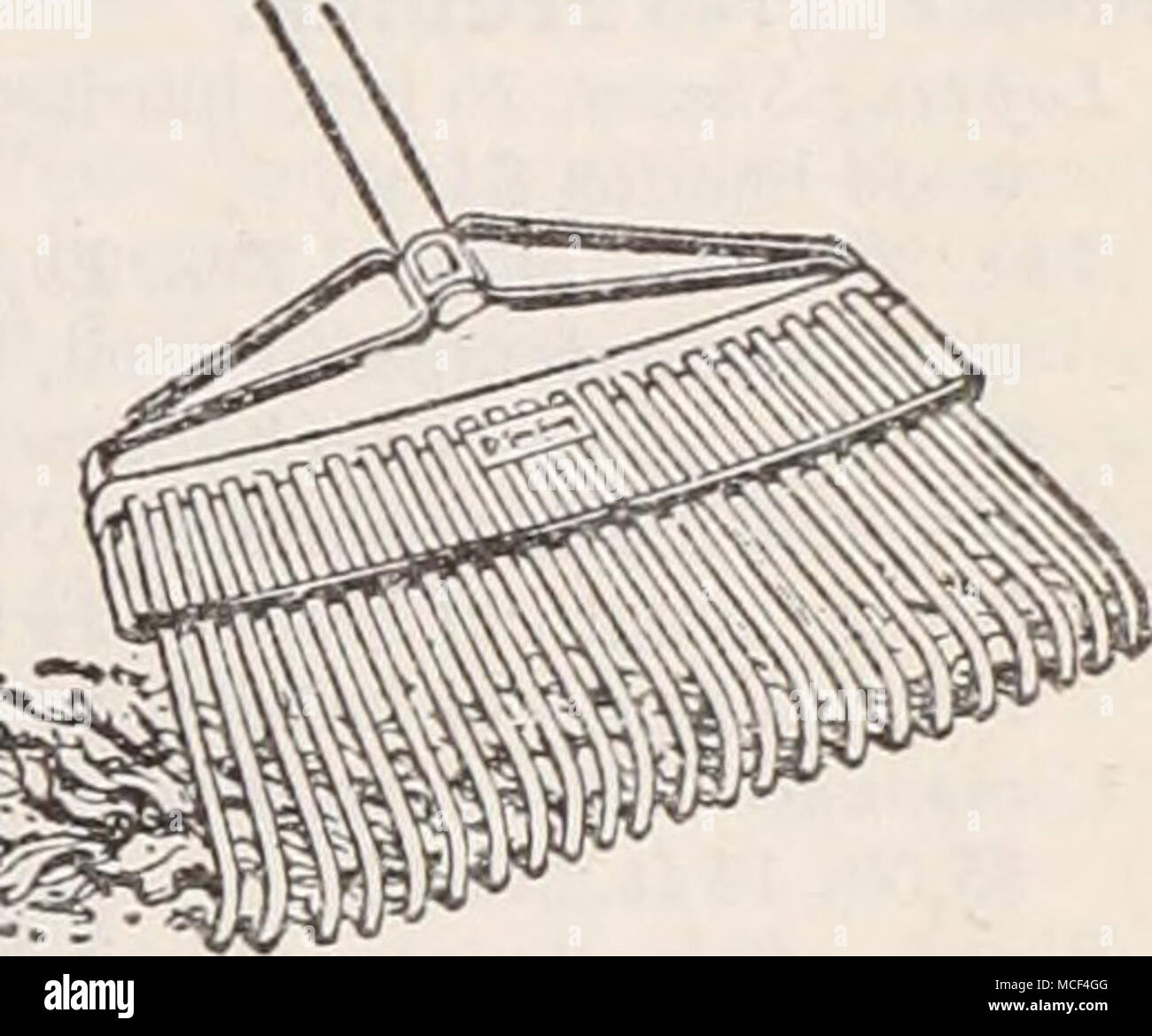Lawn Comb Bailie Lawn Rake  This tool, fitted with 24 teeth