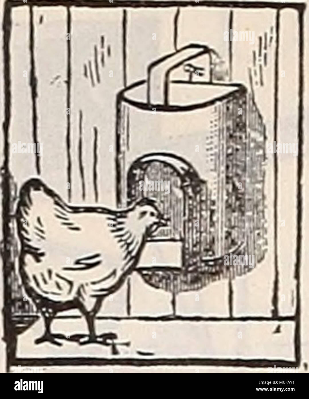 """. Dreer's Poultry Fount. Hub"""" Fount. 40 cts., 25 lbs. 75 cts., - Stock Image"""