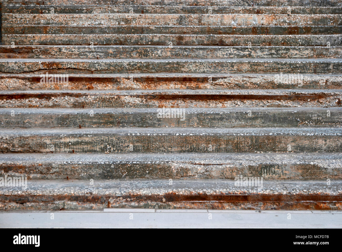 Geometric Grungy Stairs Deadpan Style Image Horizontal - Stock Image