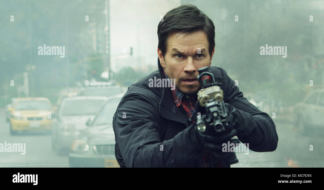 MILE 22  2018 STX Entertainment film with Mark Wahlberg - Stock Image