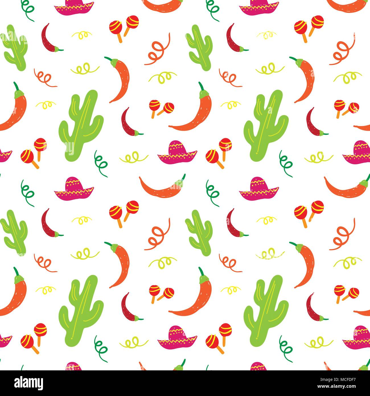 Cinco De Mayo Mexican Holiday Seamless Pattern With Cactus 4b1527a0822